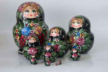 Russian dolls -  matrioska   modern  Wood craft  From Moscow,Russia photo