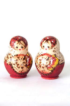 俄羅斯娃娃 -  matrioska現代木工藝從俄羅斯莫斯科 版權商用圖片