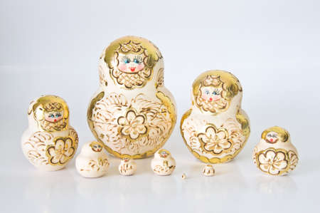 Russian national souvenir - matryoshka photo