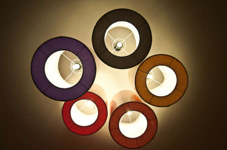 Modern colourful circular light fixture photo