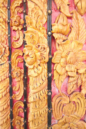 Masterpiece of traditional Thai style art  on temple wall at Nan province,Thailand