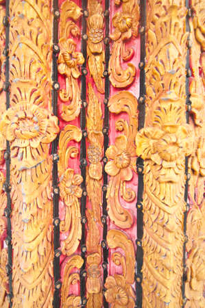 Painting stucco on temple wall,traditional Thai style,Nan province,Thailand