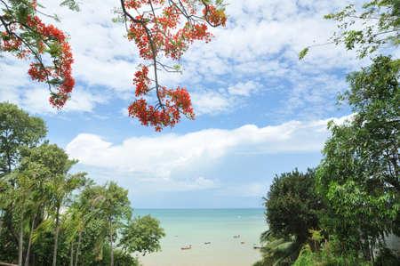 beautiful sea and sky of Thailand Stock Photo - 14492764