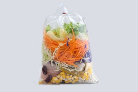 vegetable salad in plastic bag photo