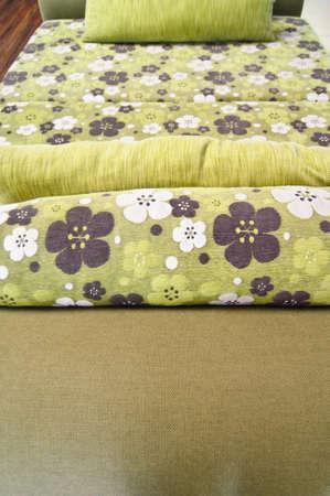 Green sofa flower pattern living room Stock Photo - 16210959