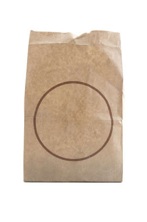 paper bag on a white background. photo