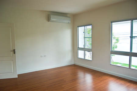 beautiful apartment, interior, big empty room photo