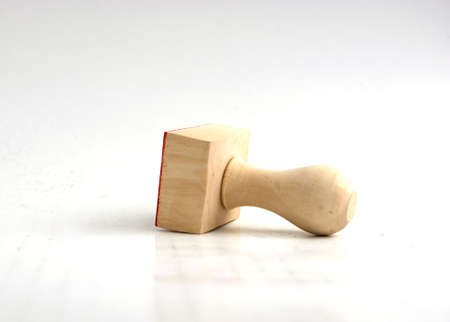 punch press: Blank wooden rubber stamp