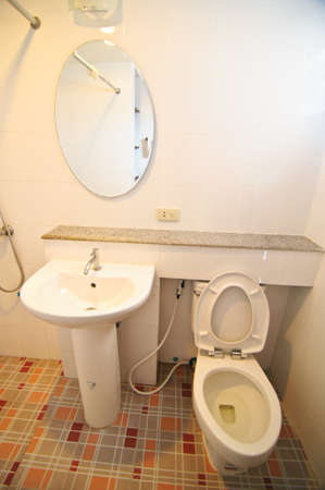 Indoor toilet in a house photo