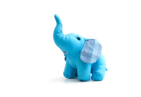 silk blue elephant toy