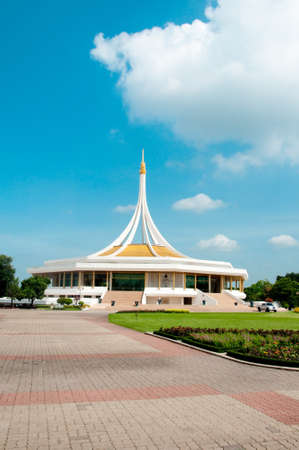 Monument at public park blue sky at Suanluang Rama 9, Thailand photo