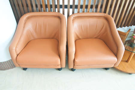 Two brown leather sofa Stock Photo - 21160989
