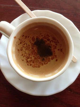 shiny metal: Cup of coffee