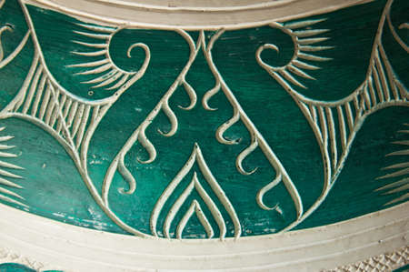 Thai style art green made from clay, Thailand. photo