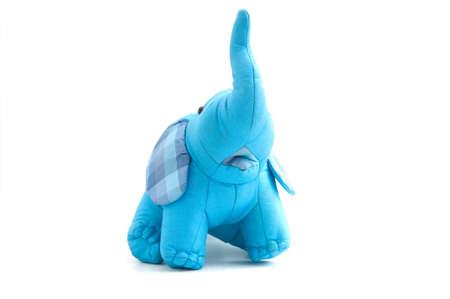 thai elephant: blue elephant toy make by silk