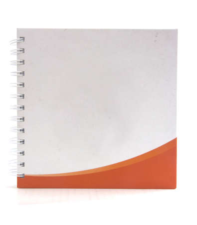 white and orange color Cover Note Book photo