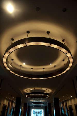 lighting fixtures: Arrangement of hanging lighting fixtures