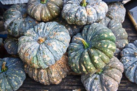 pile of pumpkin in thai market photo