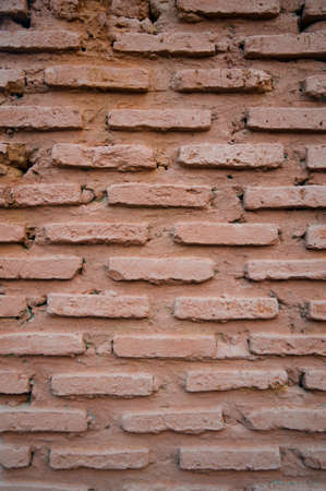The background of the old red brick wall Stock Photo - 22871373