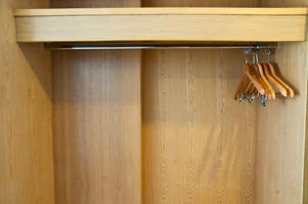 coat hanger in Wardrobe wood photo