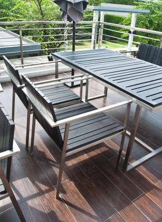 Stylish outdoor terrace