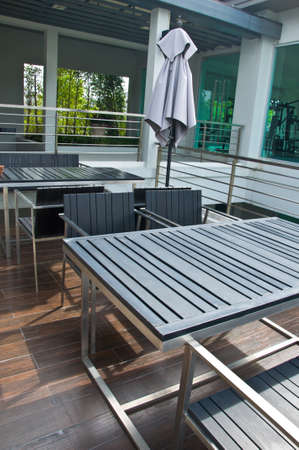 Stylish outdoor terrace Stock Photo - 23177042