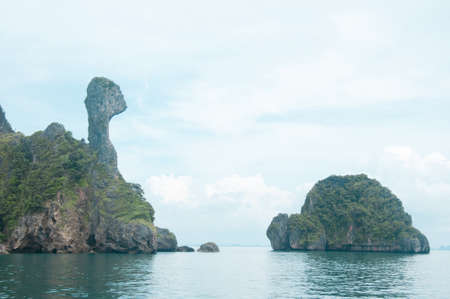 Chicken Island, Koh Kai, in the Andaman Sea, off the coast of Krabi, Thailand photo