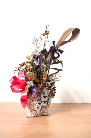withered flower: best memories -Bouquet of withered flower in vase
