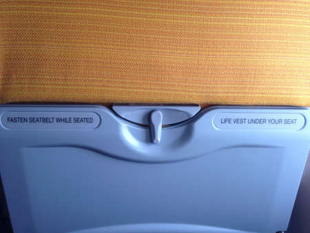 lifevest: Airplane safety advice Life-vest under seat