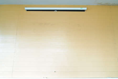 Blank Projection screen in wall photo
