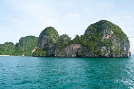 Tropical sea island rock, Thailand krabi photo