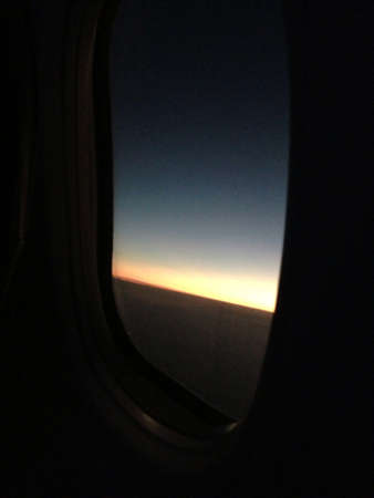 Window Airplane On Night Sky Stock Photo Picture And Royalty Free