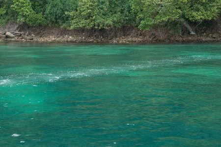 dive trip: clear water beautiful sea like a heaven at Krabi Province Thailand Stock Photo