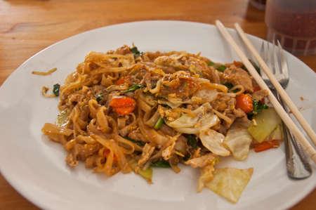 Famous Thais dish Phad thai. Fried noodle