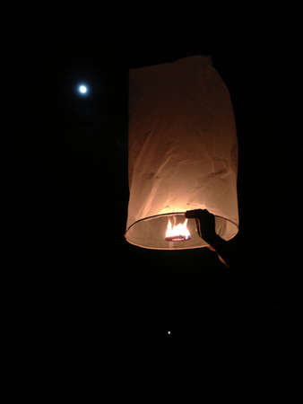 yeepeng: North of Thailand Happy newyear christmas balloon yeepeng traditional at night