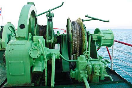 Boat engine, boat motor engine, close up. photo