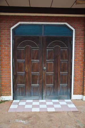 large doors: Large wooden doors Thai home