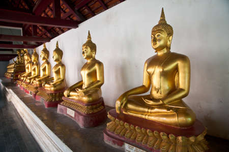Buddha statue in Wat Phra Si Rattana Mahathat temple ,Phitsanulok Province, Thailand. photo