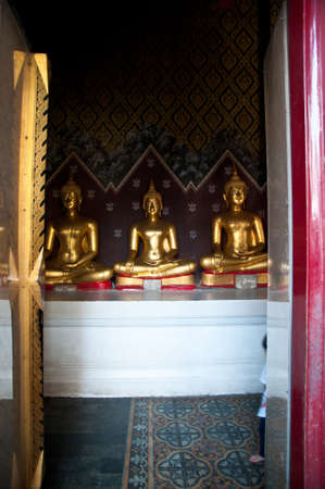 Buddha statue in at Phra Si Rattana Mahathat temple ,Phitsanulok Province, Thailandf photo