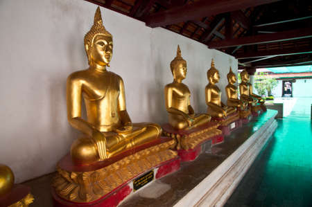 Buddha statue in Wat Phra Si Rattana Mahathat temple ,Phitsanulok Province, Thailand.