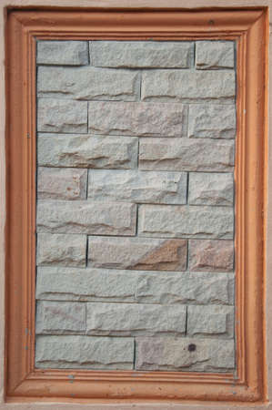 ��wood frame�: brick pattern with wood frame