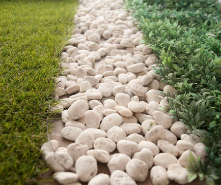 Stones and grass texture background photo