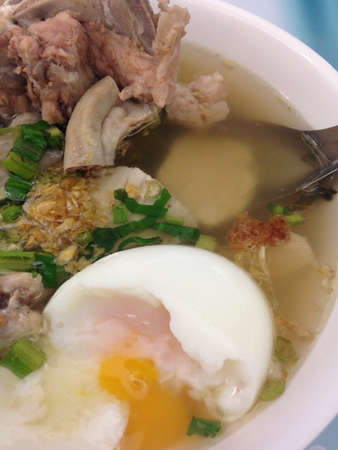 entrails: Chinese clear soup with boiled entrails