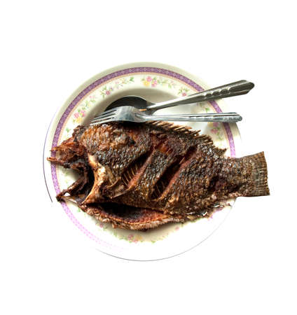 nilotica: crisp fried Tilapia fish Stock Photo