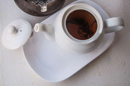tea hot drink: teapot for afternoon tea time