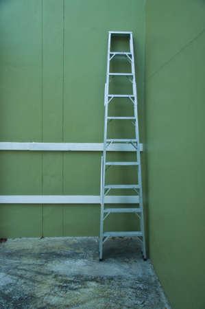 Aluminum step ladder in home photo