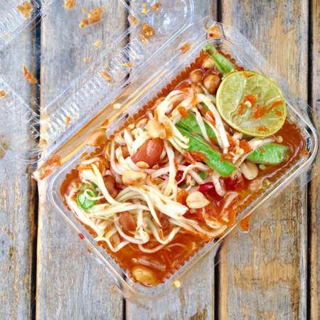 somtum: Papaya salad,somtum Thai food