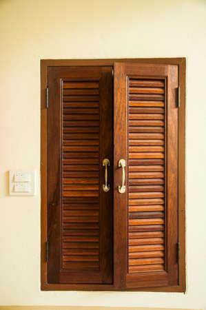 open windows: windows wood shutters open.