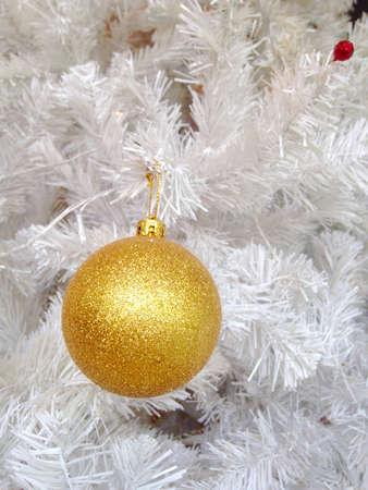 shiny: Golden Christmas,New year ball Stock Photo