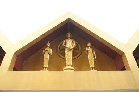 angthong: Buddha statues at Wat Tha-it , Angthong Province, Thailand Stock Photo